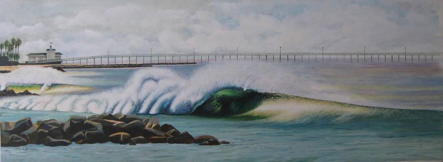 Newport Beach jetties by MarkHarman