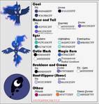 Color Guide - Princess Luna