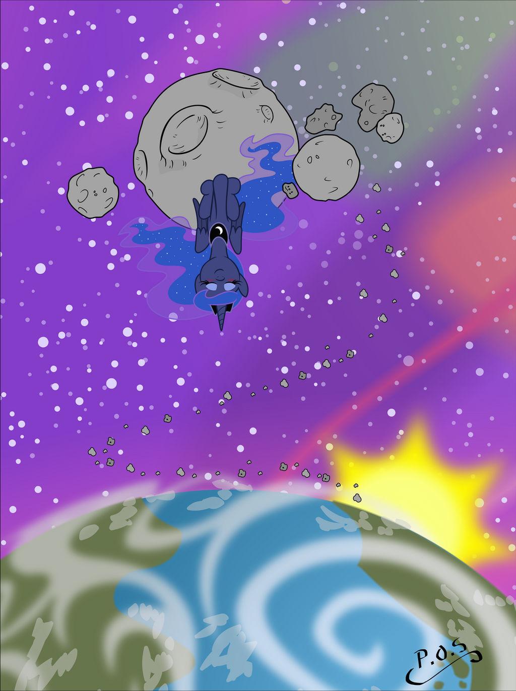 Luna in spaaaace!