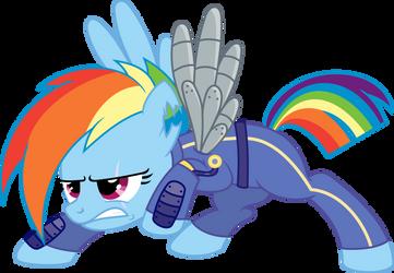 Rainbow Dash - Crystal War by MidnightBlitzz
