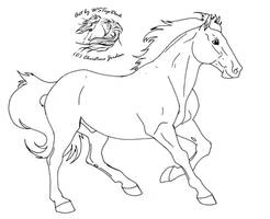 Cantering lineart for dA use by WSTopDeck