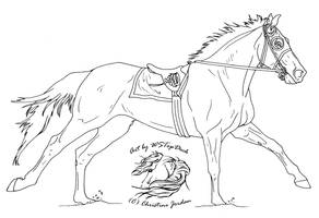 Racehorse Lineart-dA use by WSTopDeck