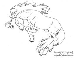 Bucking Unicorn Lines-free use by WSTopDeck