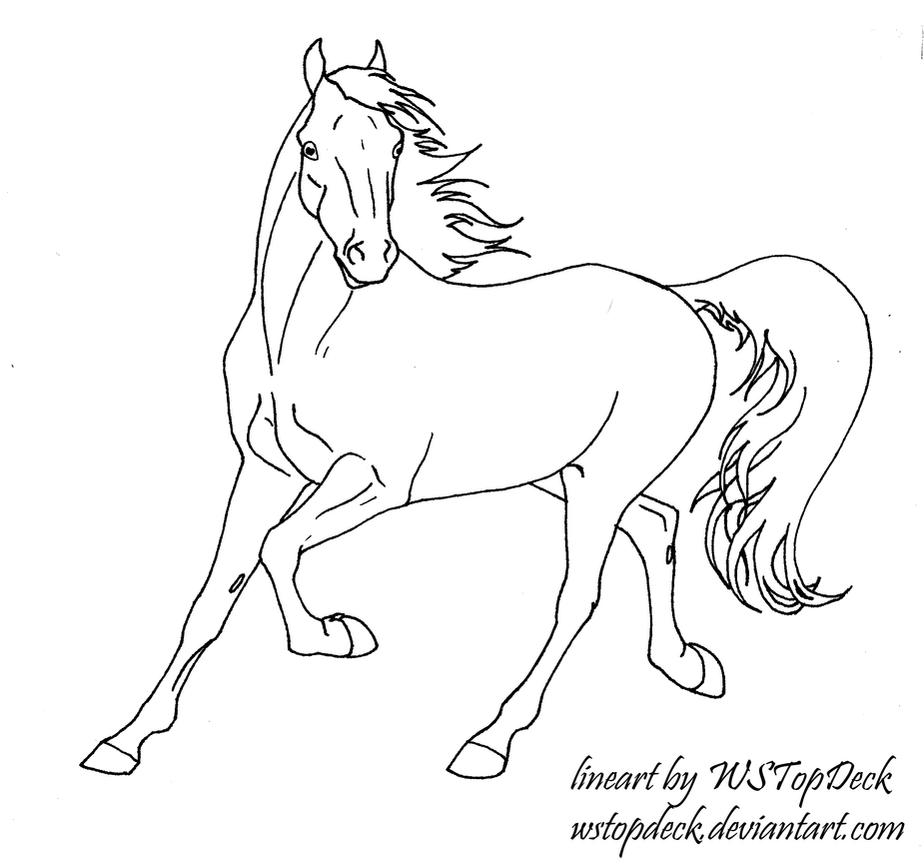 how to draw a trotting horse