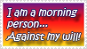 Morning Person stamp by WSTopDeck