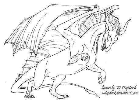 Dragon lineart-free use