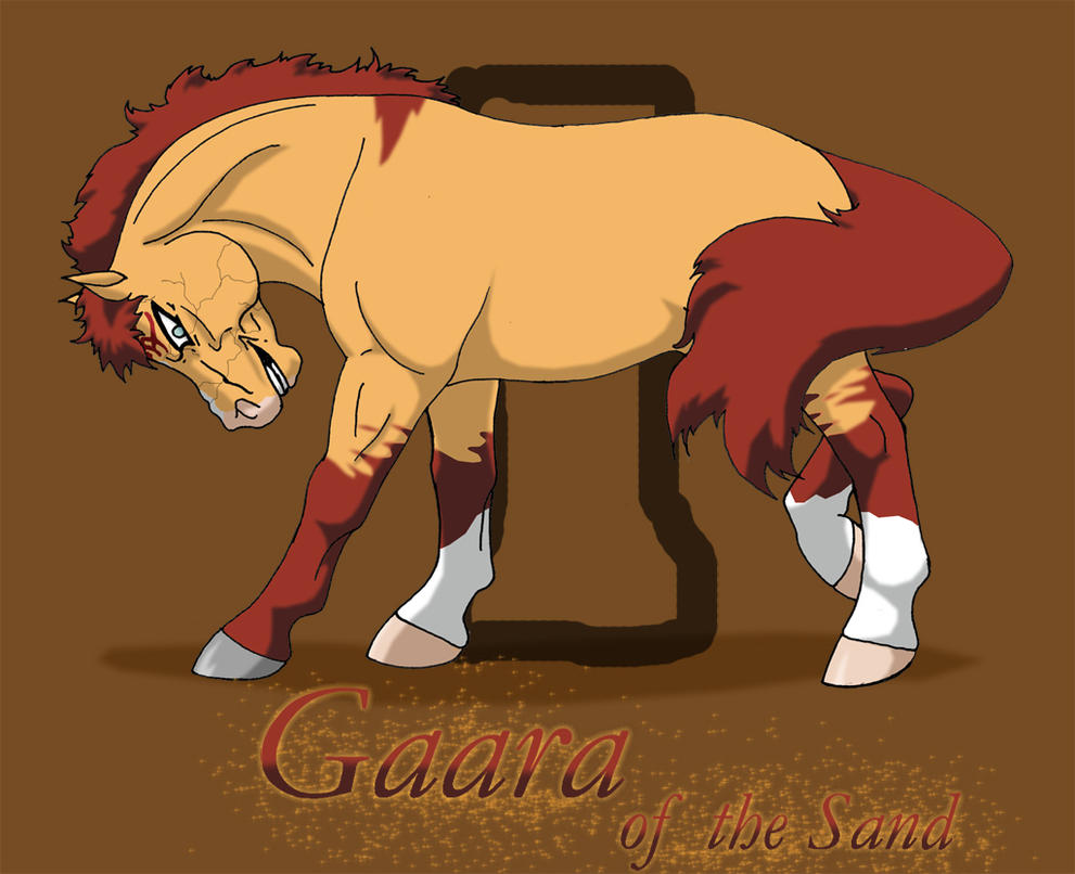 Gaara Pony by WSTopDeck