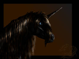 Black Unicorn for wolf-staag by WSTopDeck