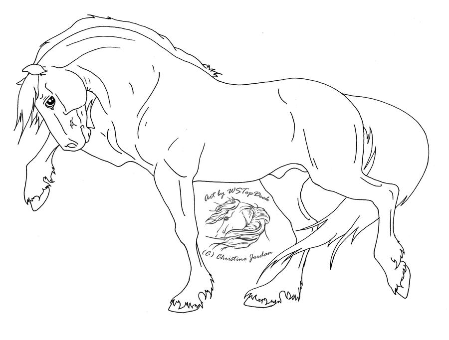 Linearts à votre disposition Pawing_stallion_lineart_by_wstopdeck