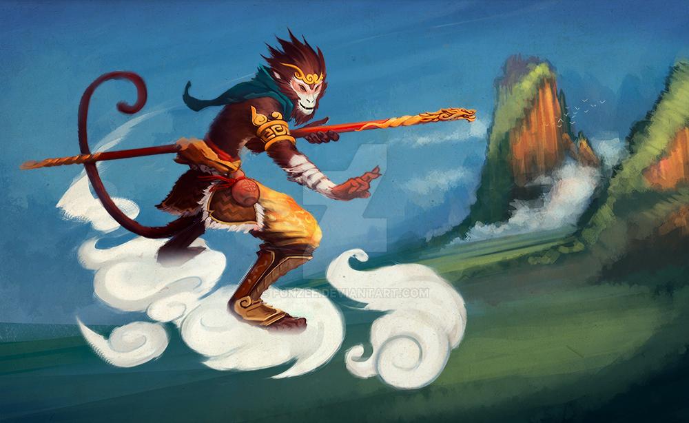 Sun Wukong the Monkey King by funzee