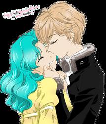RENDER Sailor Uranus x Sailor Neptune by Utsutsu-chi