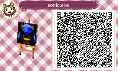 Sonic Exe Acnl Qr Code By Spykexd On Deviantart
