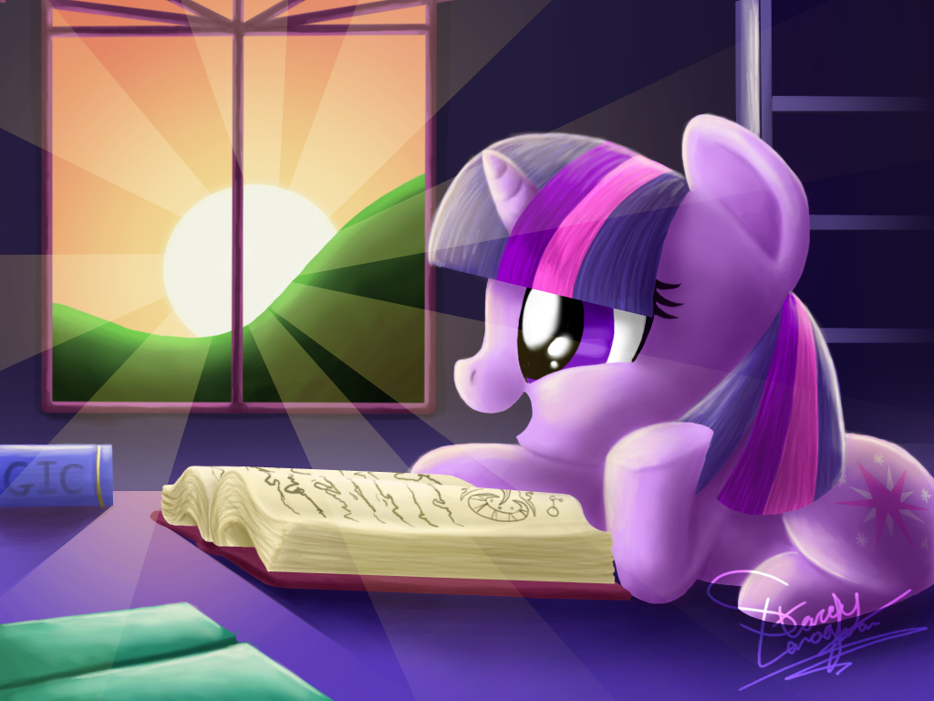 MLP FiM - Study by Daylight by ShadeySix