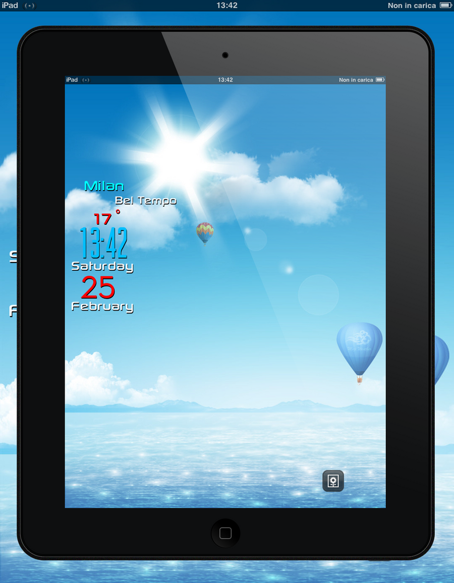 LiveWeather Lockscreen iPad by poetic24