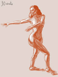 30 minutes figure drawing-002 by CDrice