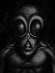 Gray Alien Portrait 2