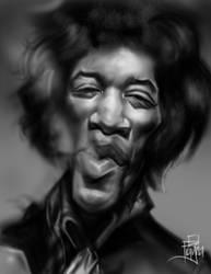 Jimi Hendrix by Frayna77