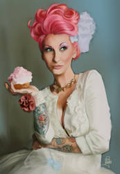 Lorraine: Pink Cupcake by Frayna77