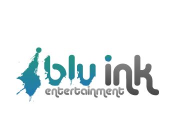 Blu ink entertainment logo by mstdesignstudios