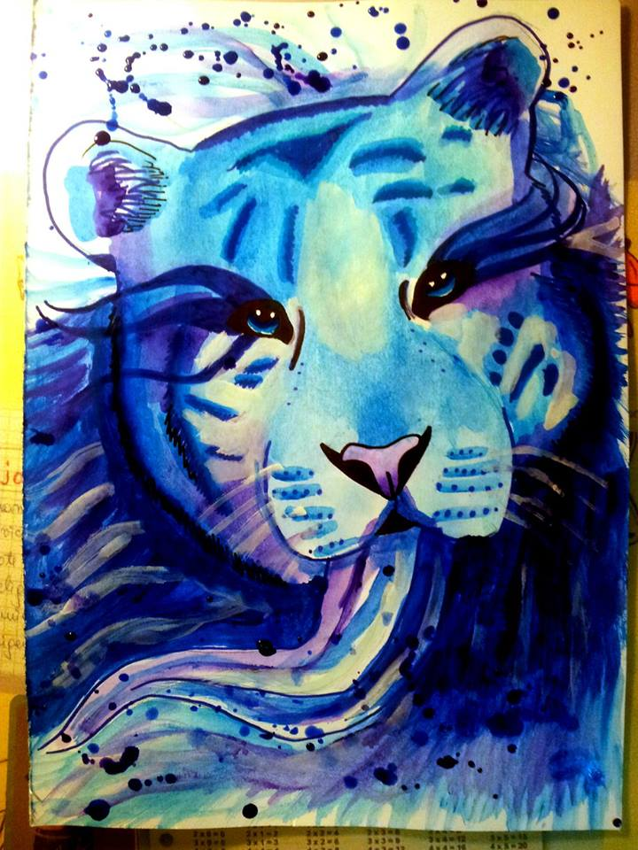 White tiger watercolor painting by PatrissaArt on DeviantArt