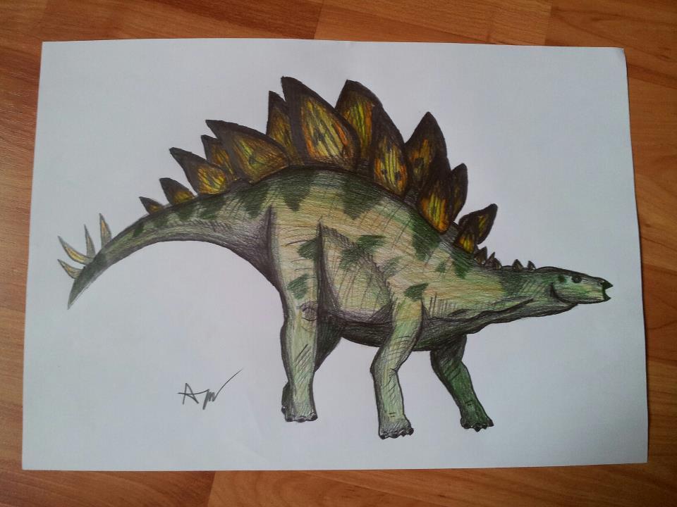 dinosaur pencil drawing by PatrissaArt on DeviantArt