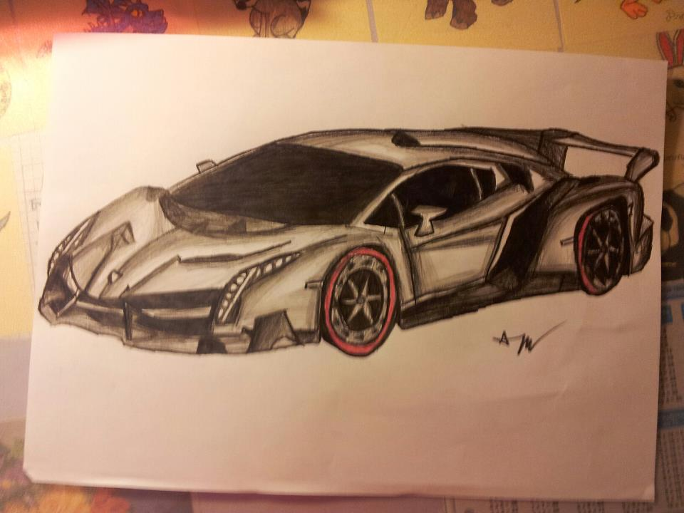 sport car pencil drawing by patrissaart - Sport Cars Drawings