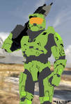 Halo 3 vector master cheif