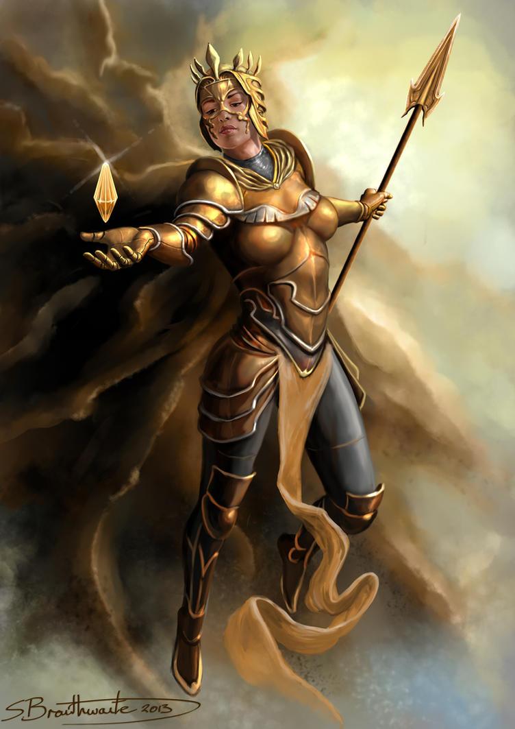 goddess of light by sbraithwaite on deviantart
