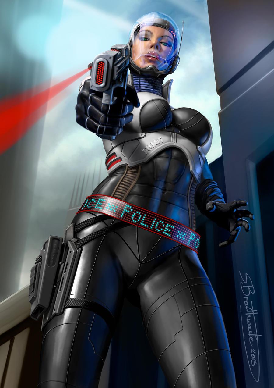 Space cop by SBraithwaite