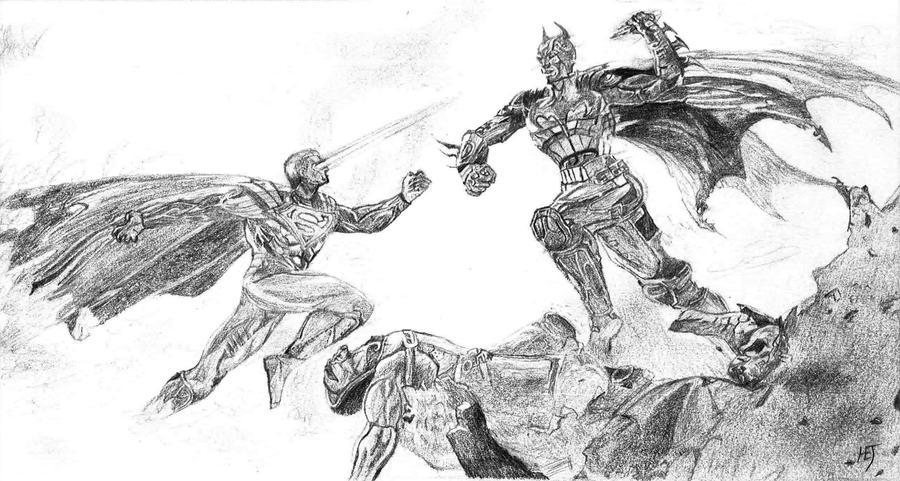batman vs superman injustice coloring pages | Batman vs Superman from Injustice: Gods Among Us by ...