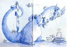 Sketchbook anno 2013 mark 1 by Piasdatter