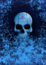 Radioactive Butterfly  Skull