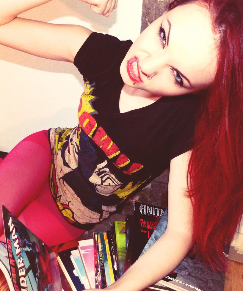 The comics girl by Skrzynska