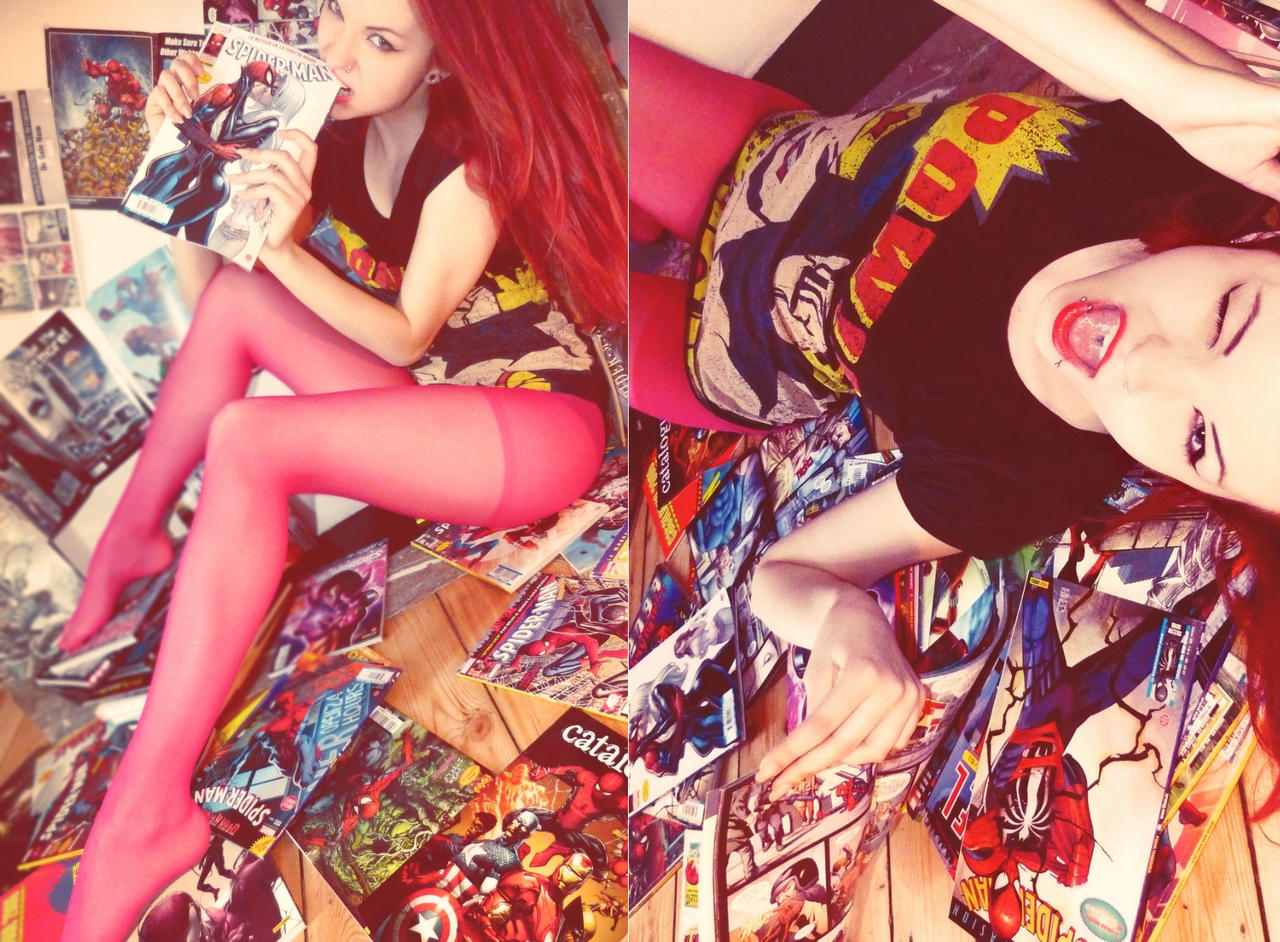 The comics girl by Skrzynska