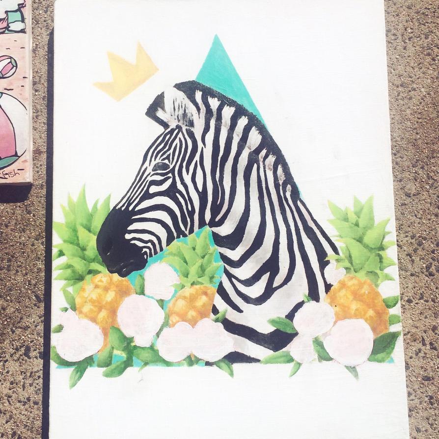 Zebras n' Pineapples (WIP) by CoolPepper