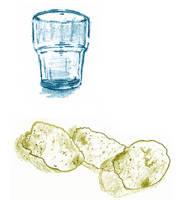 [D16] Glass and Potatoe Crisps/Chips by RetSamys