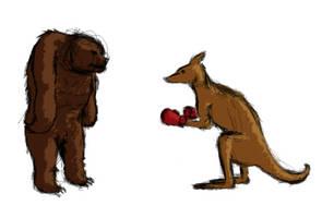 [D152] Bear vs. Kangaroo. Fight! by RetSamys