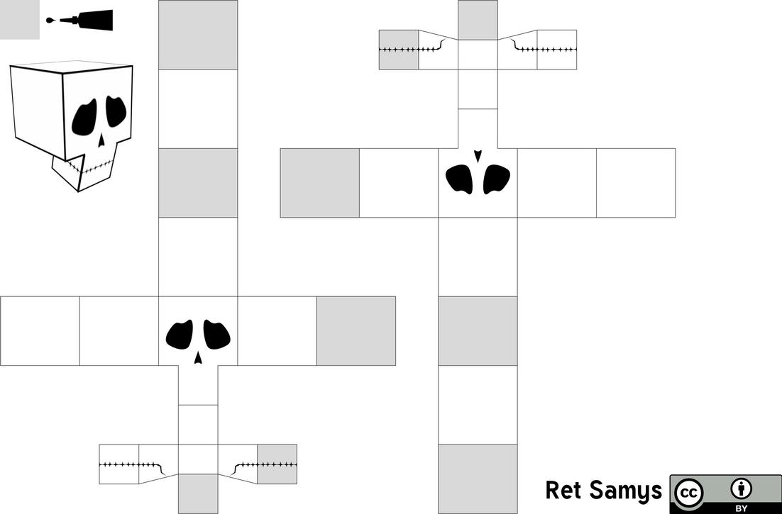 papercraft skull template by retsamys on deviantart