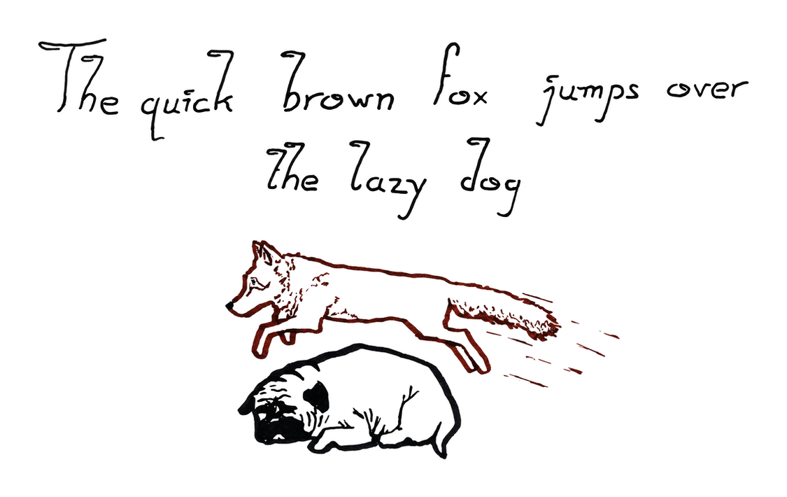 The quick brown fox jumps over the lazy dog by RetSamys