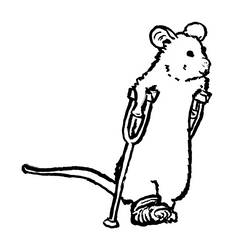 Mousetober 29 - Crutches