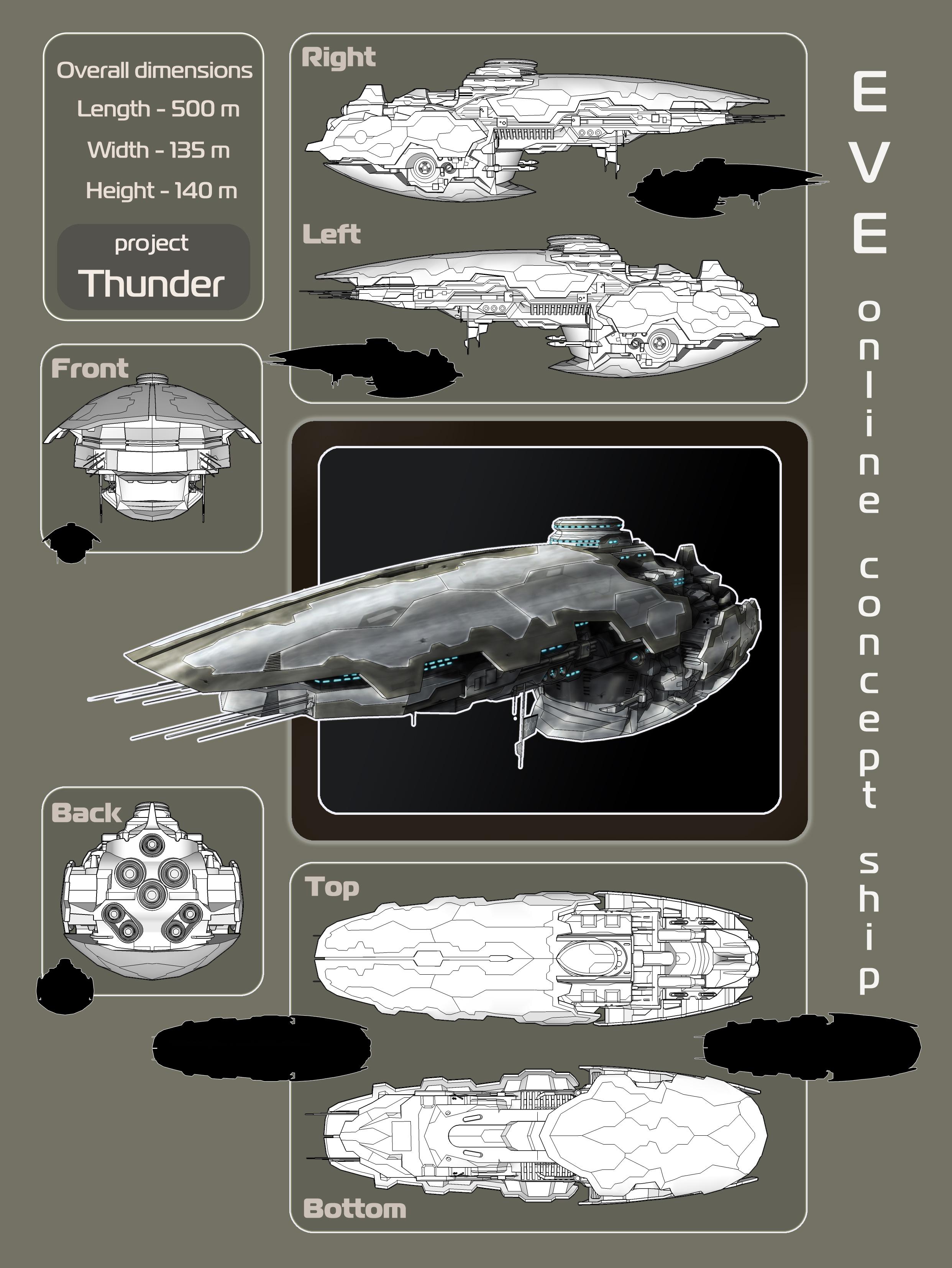 'Thunder' Amarr Ship by Sederik