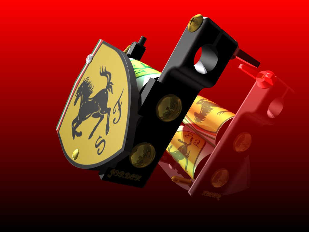 ferrari tattoo machine 2 by jaybladeart on deviantart. Black Bedroom Furniture Sets. Home Design Ideas