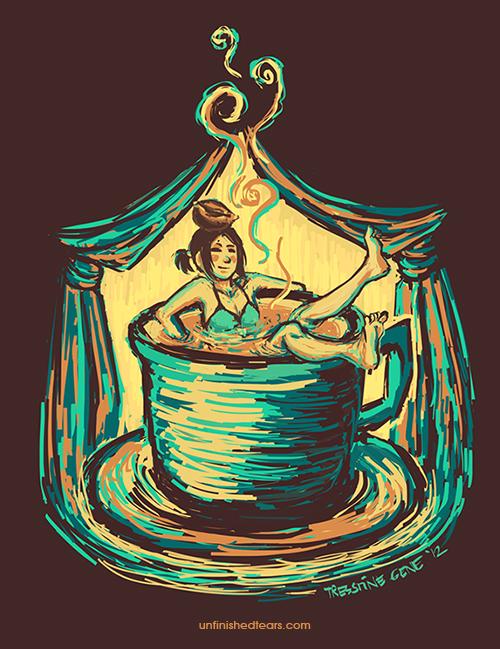 Coffee Bath by unfinishedtears