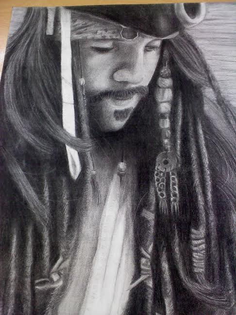 Captain Jack Sparrow (charcoal) by strabArybrick