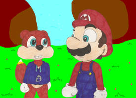 Mario Meets Conker by KoopaKidDS