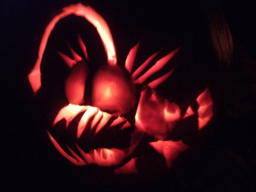 Angler fish pumpkin by kudalyn on deviantart