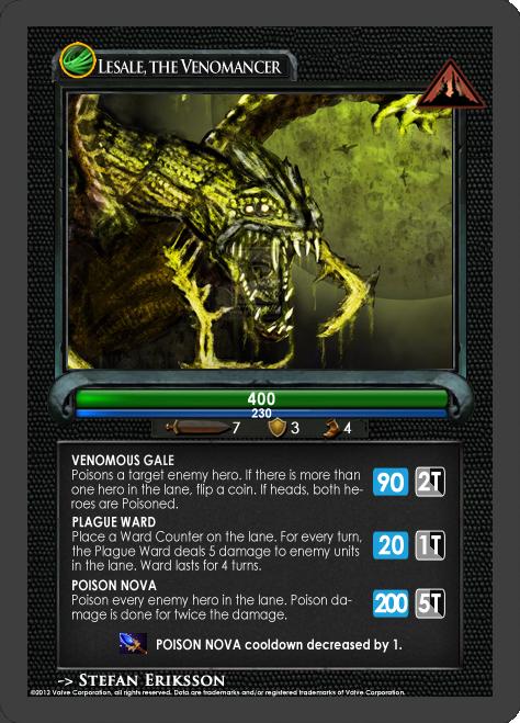 Dota2 TCG - Venomancer by goldenhearted on DeviantArt