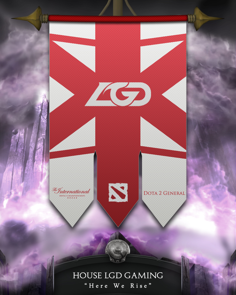 Dota2 TI4 Banners - LGD by goldenhearted on DeviantArt