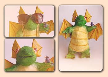 Papier-mache Dragon by YammiYammi