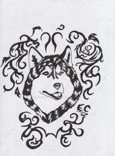 husky tattoo design by whitefox94 on deviantart. Black Bedroom Furniture Sets. Home Design Ideas